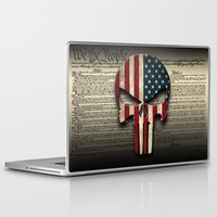punisher Laptop & iPad Skins featuring American Punisher by OPFOR|Red