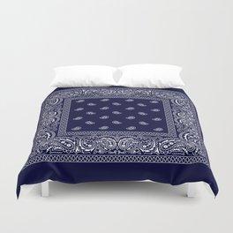 Bandana - Navy Blue - Southwestern Duvet Cover