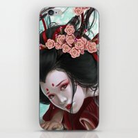 sakura iPhone & iPod Skins featuring Sakura by Claudia SGI