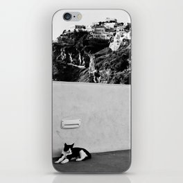 Santorini Cat iPhone Skin