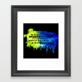 Father, You Are The Skydancer Framed Art Print