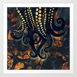 Metallic Ocean Art Print