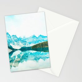 Lake reflections watercolor painting #3 Stationery Cards