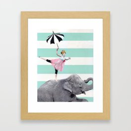 """A"" for effort. Framed Art Print"