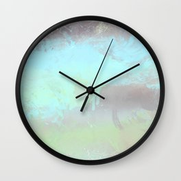 Grunge splashed background Wall Clock