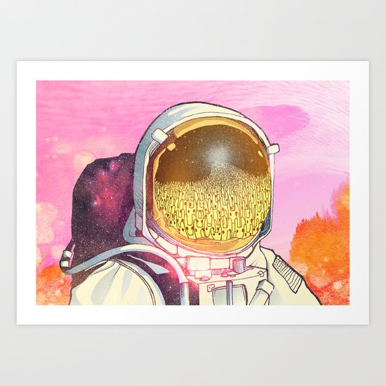 Unexpected Visitors Art Print