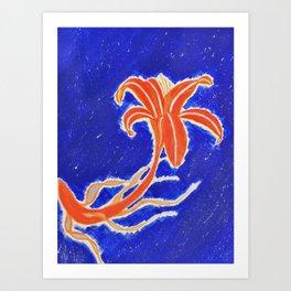 Koi Lily Art Print