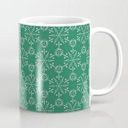 Hexagonal Circles - Emerald Coffee Mug