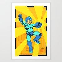 mega man Art Prints featuring Mega Man by Ramon Villalobos