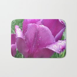 440 - Rainy day Tulip Bath Mat