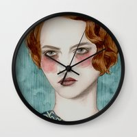lady gaga Wall Clocks featuring Sasha by Sofia Bonati