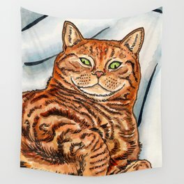 Ginger Cat Wall Tapestry