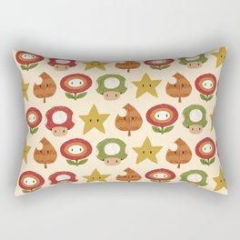 mario items pattern Rectangular Pillow