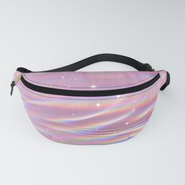Pink Shining Surface Fanny Pack