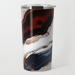 Red meets Blue - Agate Translucent #1 #decor #art #society6 Travel Mug