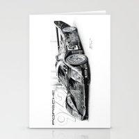 porsche Stationery Cards featuring Porsche 962 by sesven