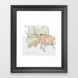 The Humorist Lobster Framed Art Print