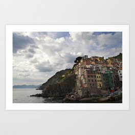 A taste of color and culture in Cinque Terre Art Print