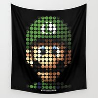 luigi Wall Tapestries featuring Pictodotz - Luigi by dudsbessa