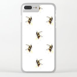 Bumblebee pattern Clear iPhone Case