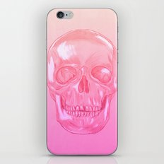 soft-grunge pink skull iPhone & iPod Skin