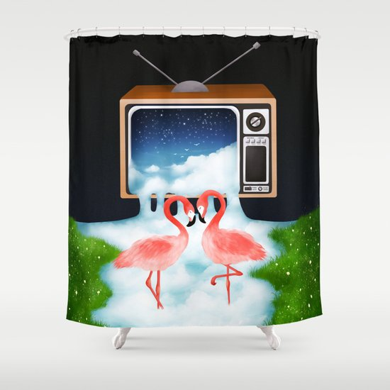 Momentary Static Shower Curtain