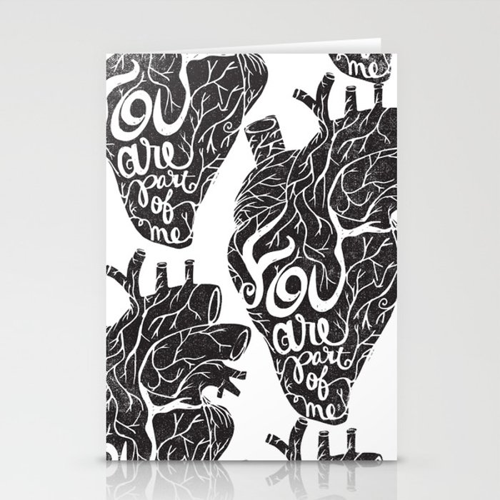 YOU ARE PART OF ME Stationery Cards