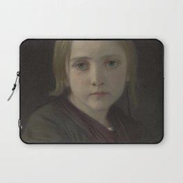 William-Adolphe Bouguereau - La petite fille aux yeux bleus Laptop Sleeve