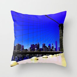 To Manhattan Throw Pillow