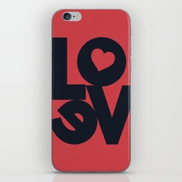 Love illustration, wall art, gift for couples, present for him, for her, Valentine's Day iPhone Skin