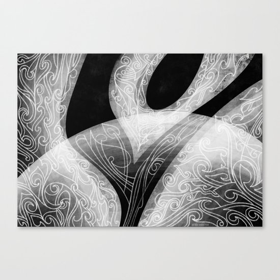 Black and White Composition  Canvas Print