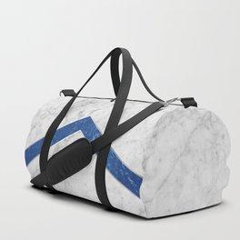 Arrows - White Marble & Blue Granite #184 Duffle Bag