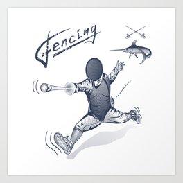 Fencing Art Print