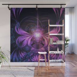 A Glowmoth of Resplendent Violet Feathered Wings Wall Mural