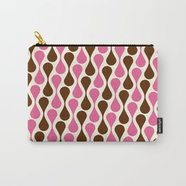 Retro pattern pink and brown Carry-All Pouch