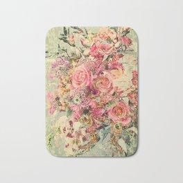 Classy Rococo floral woodpanel Bath Mat
