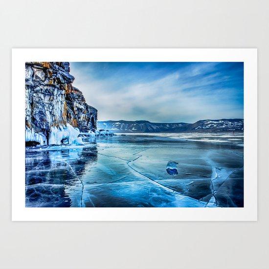Lake Baikal. March Art Print