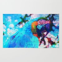 parrot Area & Throw Rugs featuring Parrot by haroulita