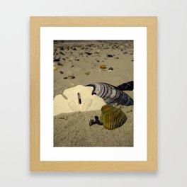She sells seashells Framed Art Print