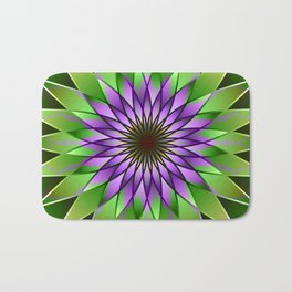 Lavender lotus mandala Bath Mat