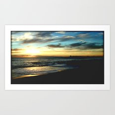 Sunrise on the South Coast of Australia Art Print