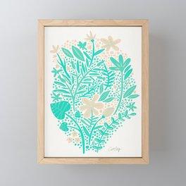 Garden – Mint & Cream Palette Framed Mini Art Print