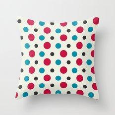 Like a Leaf [spots] Throw Pillow