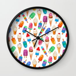 Summer Pops and Ice Cream Dreams Wall Clock