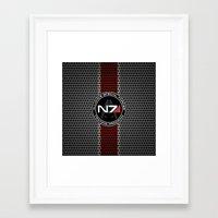 n7 Framed Art Prints featuring N7 by aleha