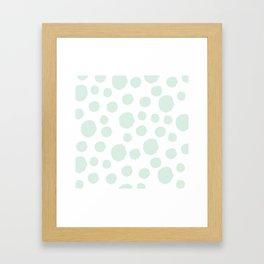 Mint Polka Art Framed Art Print