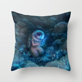Space biologist Throw Pillow