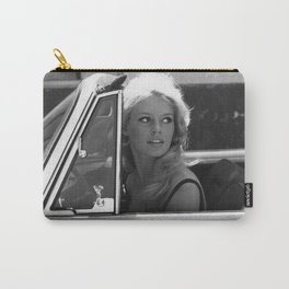 Brigitte Bardot in Barcelona black and white photography / photographs Carry-All Pouch
