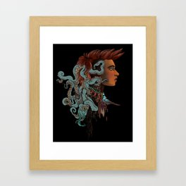 Changeling - Muse of the Cosmic Octopus Framed Art Print