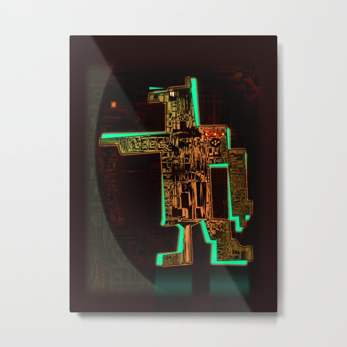 Spatial Robotic City Lab Metal Print